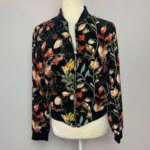 ZARA | floral pilot jacket